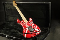 High quality black red white stripe evh floydrose tremolo Electric guitar Guitarra free shipping