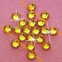 GENUINE Swarovski Elements ss16 Sun Flower ( 292 ) 720 pcs 16ss Iron on   Flatback  Crystal Craft Hotfix rhinestones