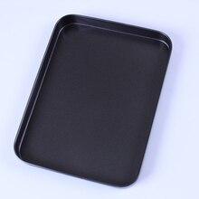 Recubrimiento antiadherente de acero al carbono cuadrado molde de horno para hornear molde de la torta molde para hornear pizza