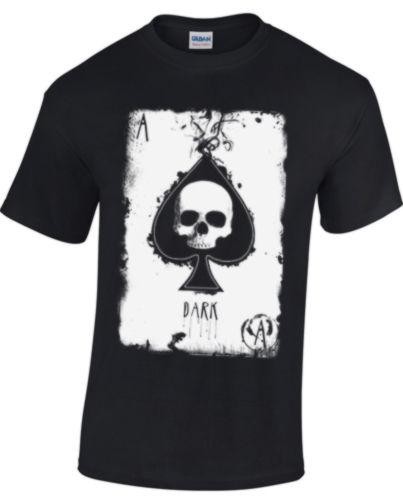 ACE OF SPADES T-shirt pour hommes femmes tete de mort gothique