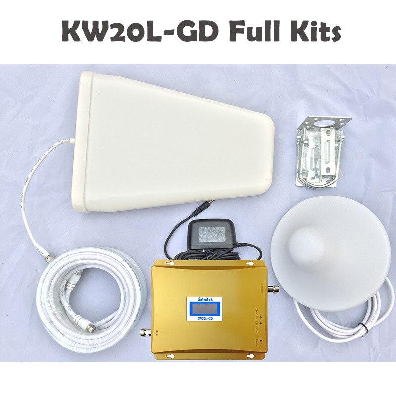 Répéteur De Signal Lintratek Booster GSM 900 MHz 1800 MHz GSM DCS Booster De téléphone portable double bande répétiteur De Sinal celulaire 900 1800 #20