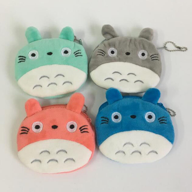 4Colors, Super Kawaii Totoro Plush TOY DOLL , Gift Key Chain Plush Bag Doll Toys B0864