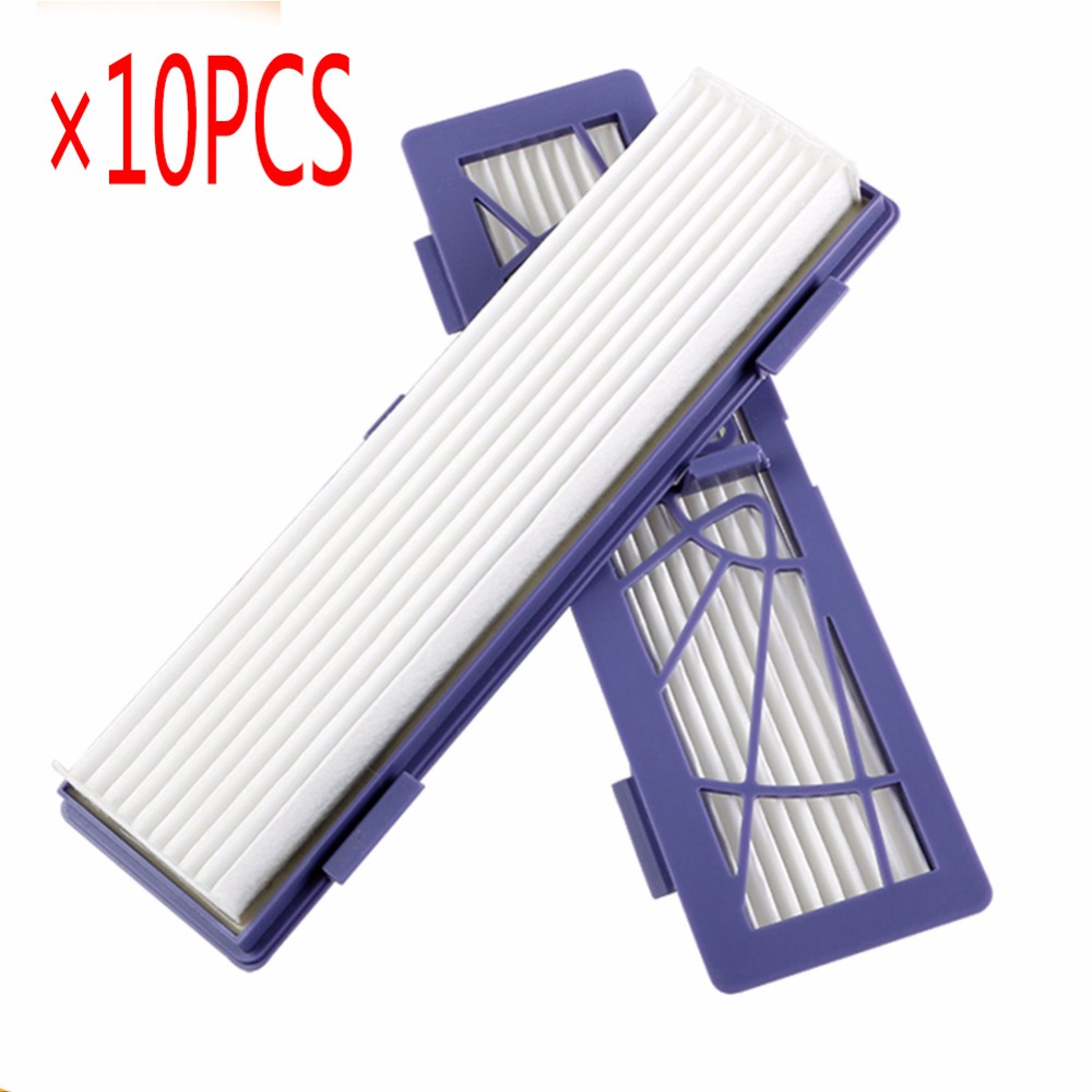 10pcs/Lot New HEPA dust filter Replacement for Neato BotVac 70e,75,80,85 series Robotic Vacuum Cleaners Robot 4pcs hepa filter for neato botvac 70e 75 80 85 series robotic vacuum cleaners robot high quality