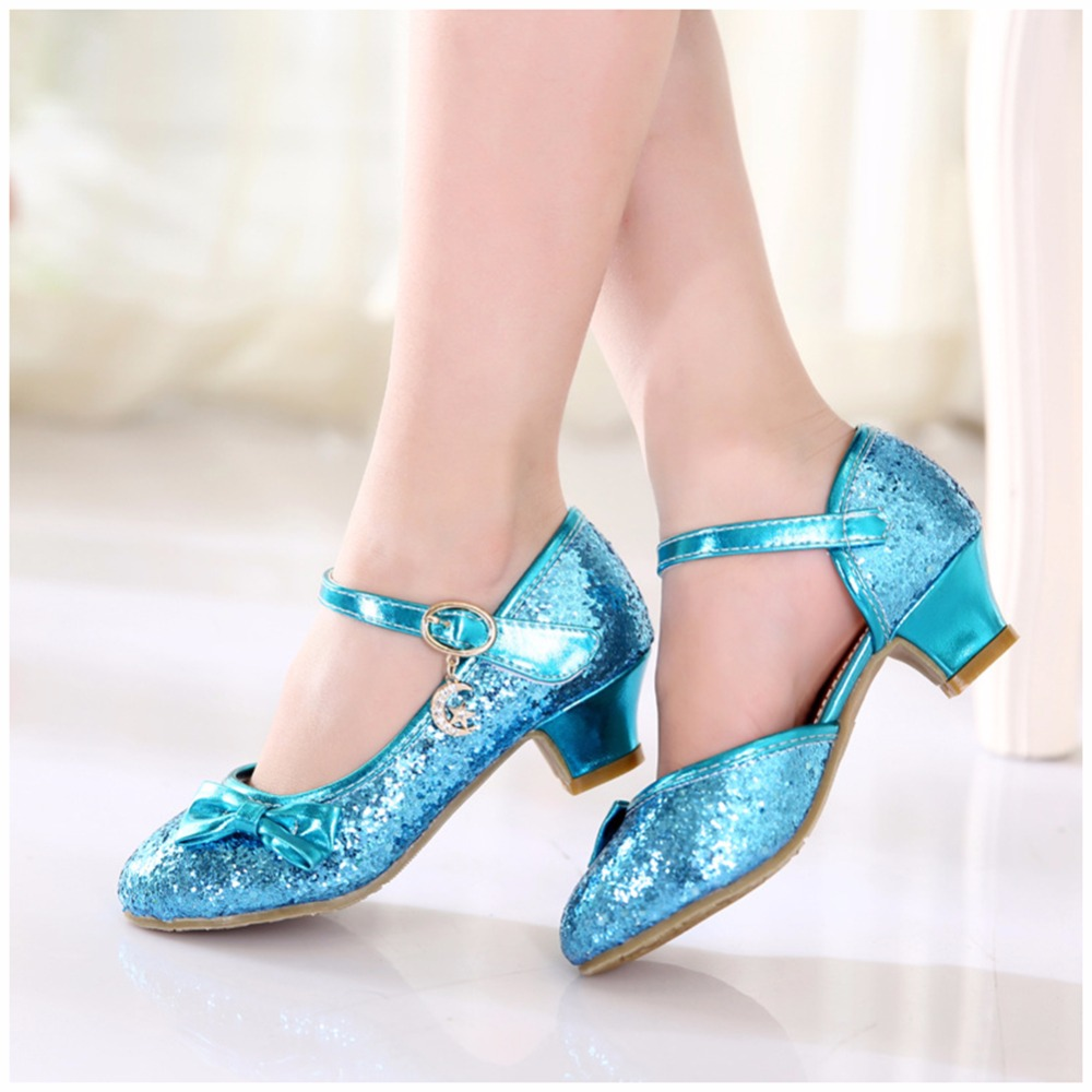2017 Elegant Children Princess Sandals Kids Girls Wedding Shoes High ...