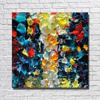 Newest Picture Hand painted Canvas Oil Painting Abstract Wall Art Home Decoration Beautiful Knife Painting No Framed