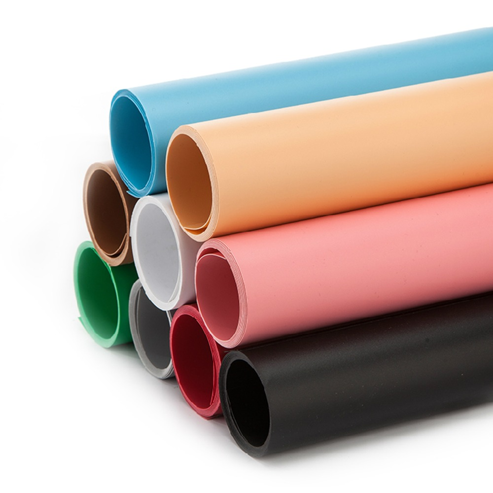 68*130cm couleur unie mat givré PVC plaque de fond photographie toile de fond tissu imperméable Anti-rides
