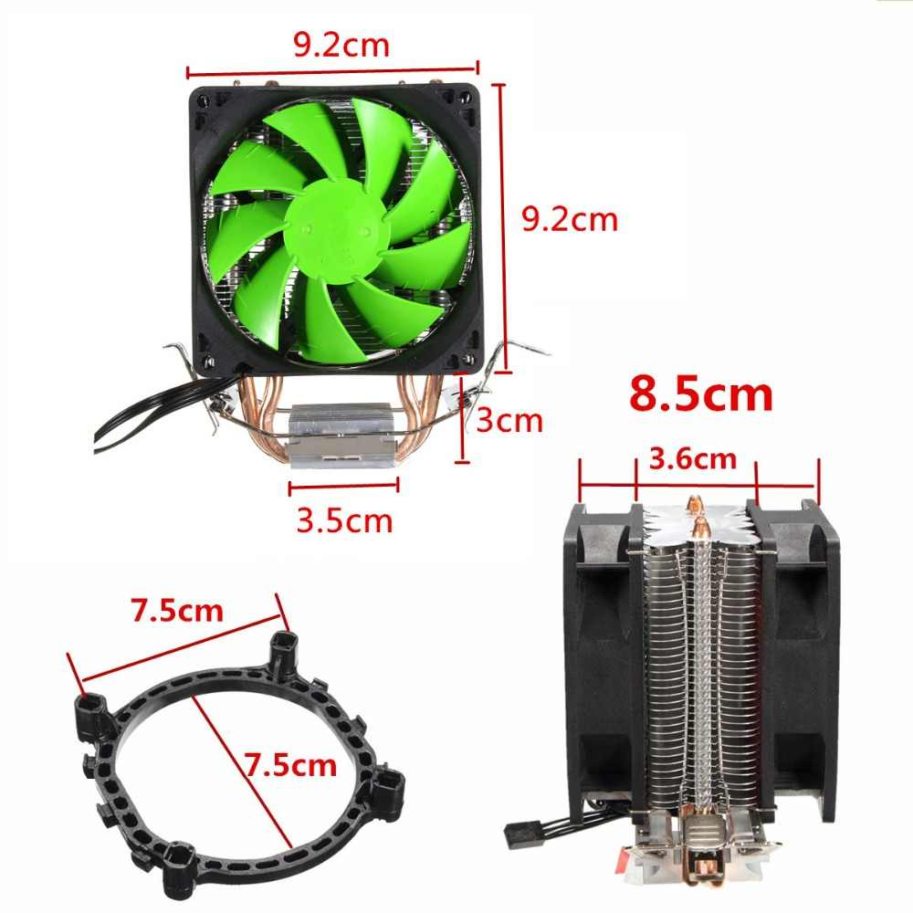 Dual Fans Hydraulic Cooling Heatpipe Heatsink Radiator For Intel LGA775/1156/1155 AMD AM2/AM2+/AM3 For AM4 Ryzen for Pentium