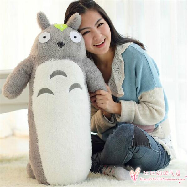 large 100cm pillow cartoon lovely cylindrical totoro plush toy soft pillow, birthday gift h845 lovely giant panda about 70cm plush toy t shirt dress panda doll soft throw pillow christmas birthday gift x023