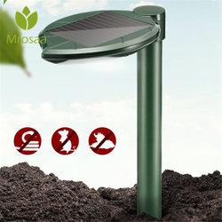 Jardín productos de Control de plagas energía Solar onda acústica vibración pájaro Animal serpiente repelente Graden 200 m