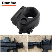Tactical AR Folding Stock Adapter For M16 M4 SR25 Series GBB AEG For Airsoft Hunting Accessory