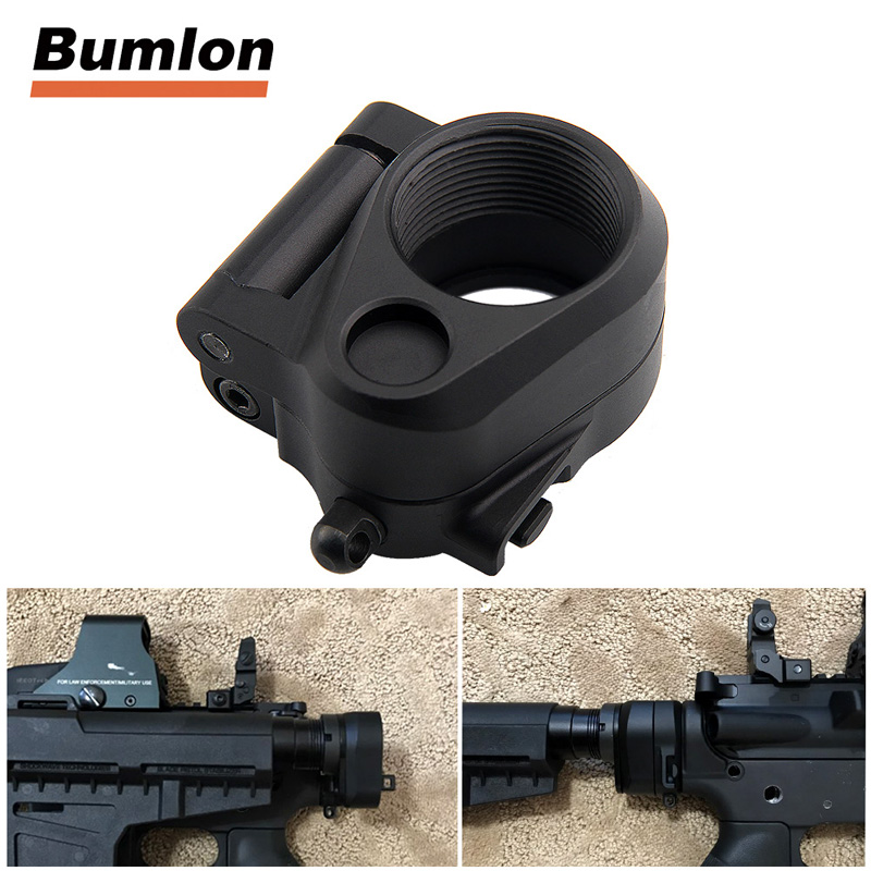 Tactical AR Folding Stock Adapter For M16/M4 SR25 Series GBB(AEG) For Airsoft Hunting Accessory 2-0042 image