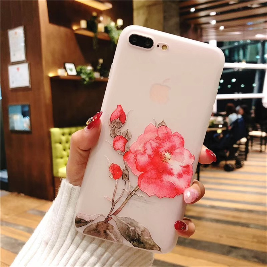 MOUSEMI Luxury 3D Silicone Case For iPhone 6 7 6S 8 Plus 5S SE X XS MAX XR Shockproof Flower Phone Case For iPhone 6 7 Case Girl (7)