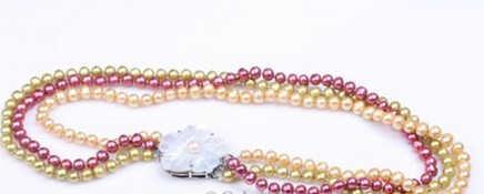 多色ddh001628養殖淡水真珠のチョーカーネックレス手作りイガイシェルクラスプ( b0409)