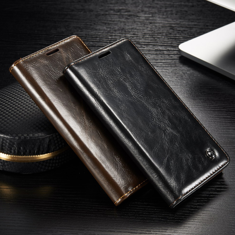 Business Flip PU Leather Wallet Phone Case For Coque Samsung <font><b>Galaxy</b></font> <font><b>S</b></font> 7 S7 S8 S9 S10 Edge Note 10 Plus Note 4 5 8 <font><b>9</b></font> Cover Funda image
