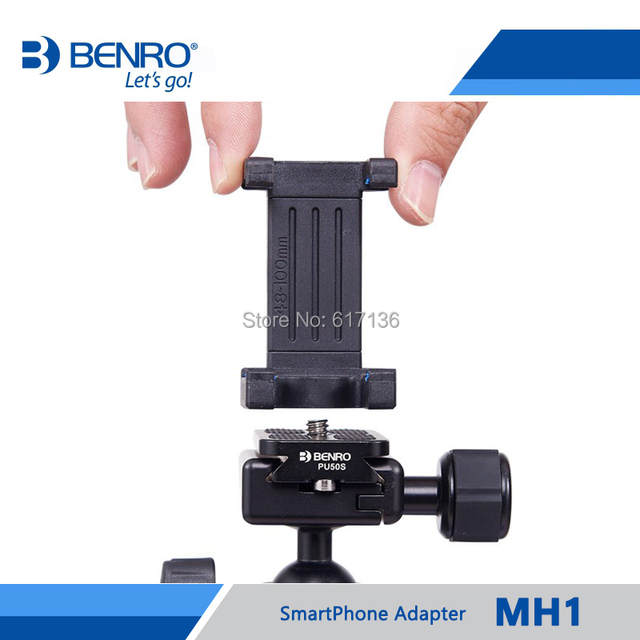 129a488f3f6758 Benro MH2 SmartPhone Adapter For Tripod Monopod Selfie Stick Phone Holder  For Iphone Samsung Mobile Free Shipping-in Tripod Monopods from Consumer ...