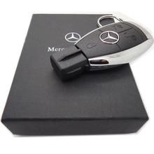 Pen Drive Creative Mercedes Benz Car Key USB Flash Drive 64GB 32GB 16GB 8GB 4GB Memory Flash Stick Pendrive Wholesale U disk
