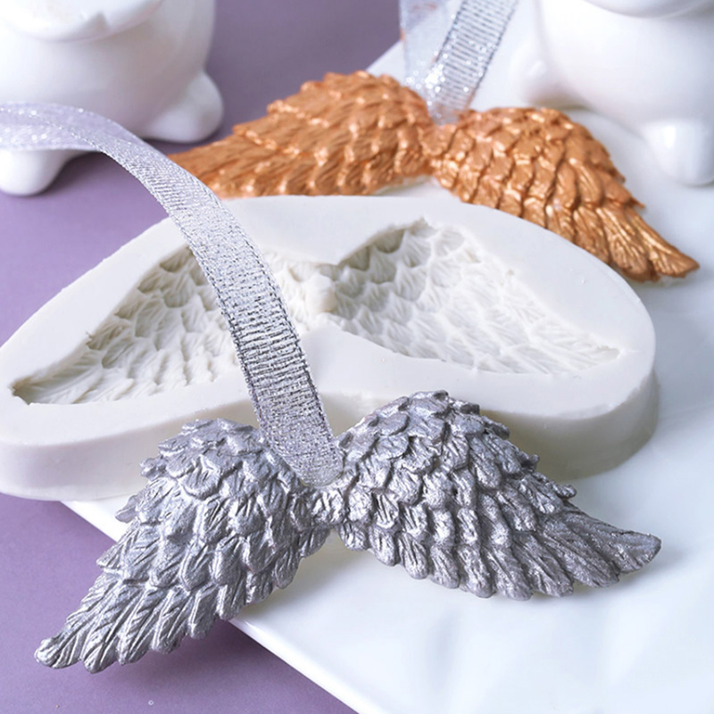 Mold Fondant Bakeware Angel-Wings-Mold-Decoration Diy-Tools Kitchen-Cutter 3d Silicone