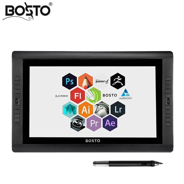 BOSTO KINGTEE 22UX tableta gráfica y gráficos en que 20 piezas express clave Tablet monitor stylus gráficos monitor interactive pen display