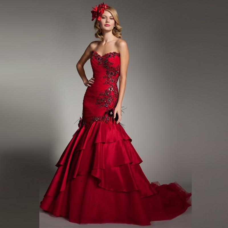 Popular burgundy wedding dresses buy cheap burgundy for Burgundy wedding dresses plus size