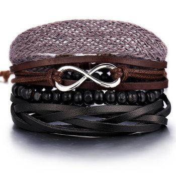 Vintage Multilayer Leather Bracelet for Men Bracelets Jewelry Men Jewelry New Arrivals Metal Color: FDY1813