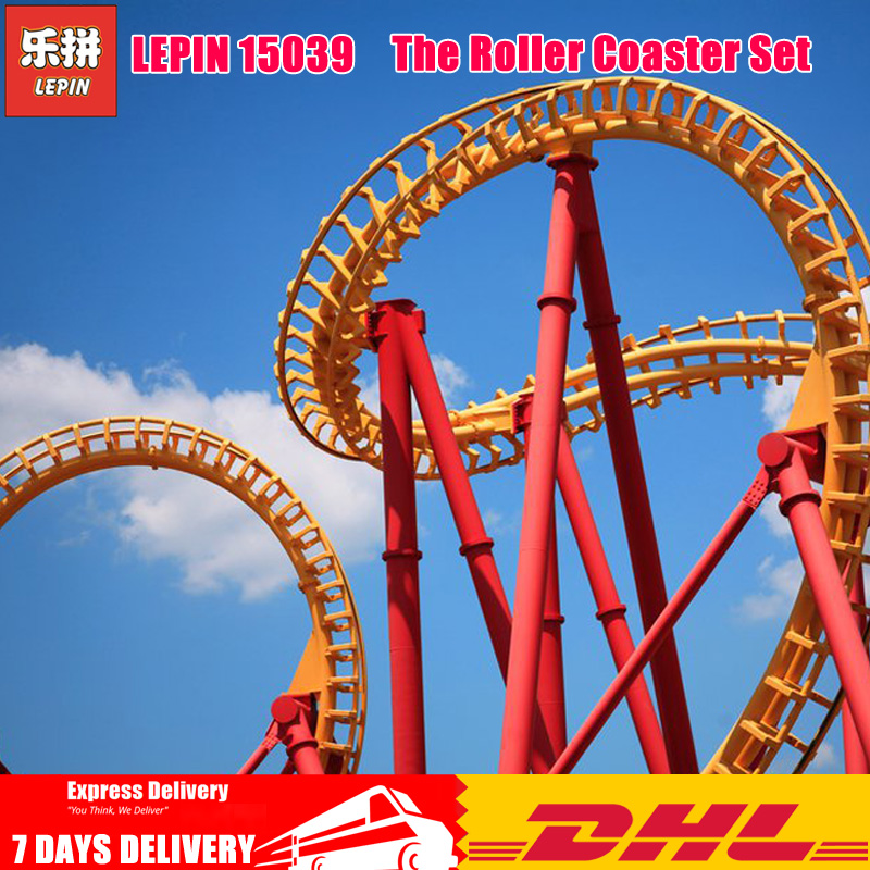 Lepin 15039 4619Pcs Compatible with Legoinglys 10261 The Roller Coaster Set Buidling Blocks Bricks Kids Toys Educational Gift in stock15039 roller funny model coaster set legoing10261 4619pcs building series buidling blocks bricks kids toys city