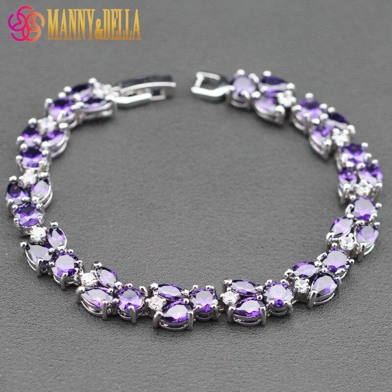 925 Silver Leaves Purple...