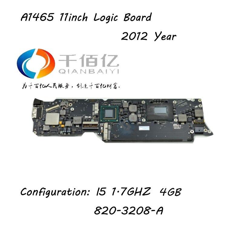 Ноутбук Логическая плата для Macbook Air A1465 материнская плата 11 ''I5 4 г 1,7 ГГц 2012 год 820 3208 A