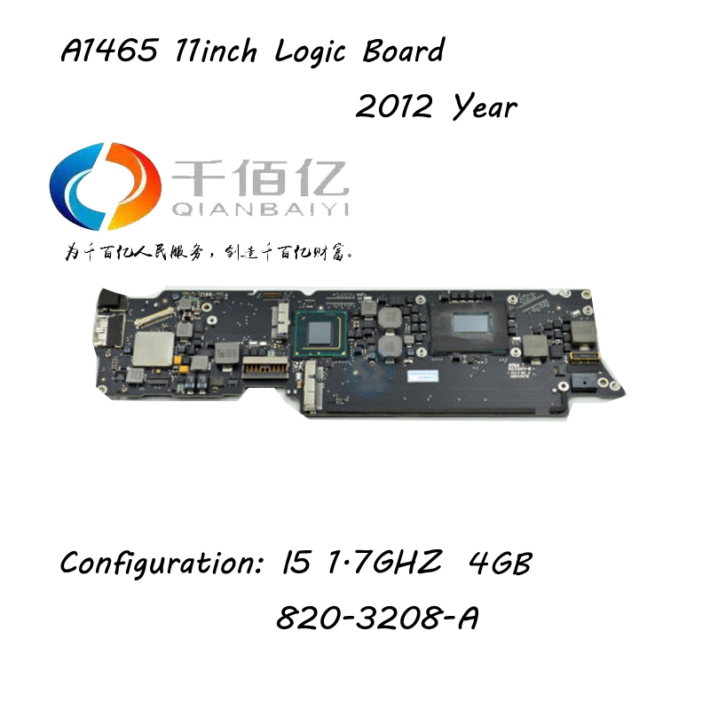 Laptop Logic board for Macbook Air <font><b>A1465</b></font> mother board 11'' I5 4G 1.7Ghz 2012 Year 820-3208-A image