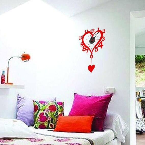 Liefde bruiloft rode muurstickers creatieve diy puzzel opknoping ...