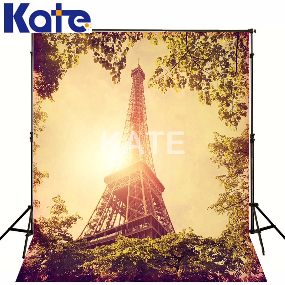 Kate Eiffel Tower Backdrop Vintage Photography Backdrops Wedding Background French Background Seamless Photo For Studio Custom
