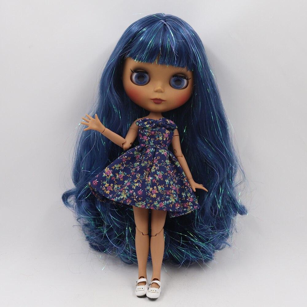 ICY Fortune Days ตุ๊กตาบลายธ์ตุ๊กตาผิว joint body ใหม่ matte face Shiny blue curly ผม DIY sd ของขวัญของเล่น-ใน ตุ๊กตา จาก ของเล่นและงานอดิเรก บน   2