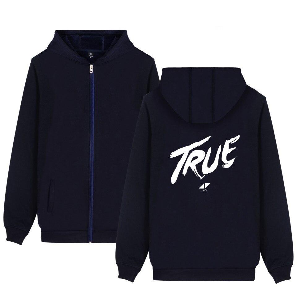 2017 DJ Avicii Autumn Zipper Hoodies Women/Men Cap Casual Top Coat Unisex Harajuku Sweatshirt Plus Size WANGCANGLI