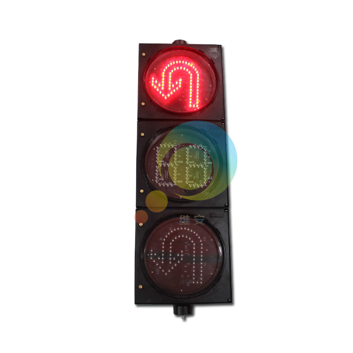 300MM turning traffic signal with countdown timer flashing safety road traffic signal light