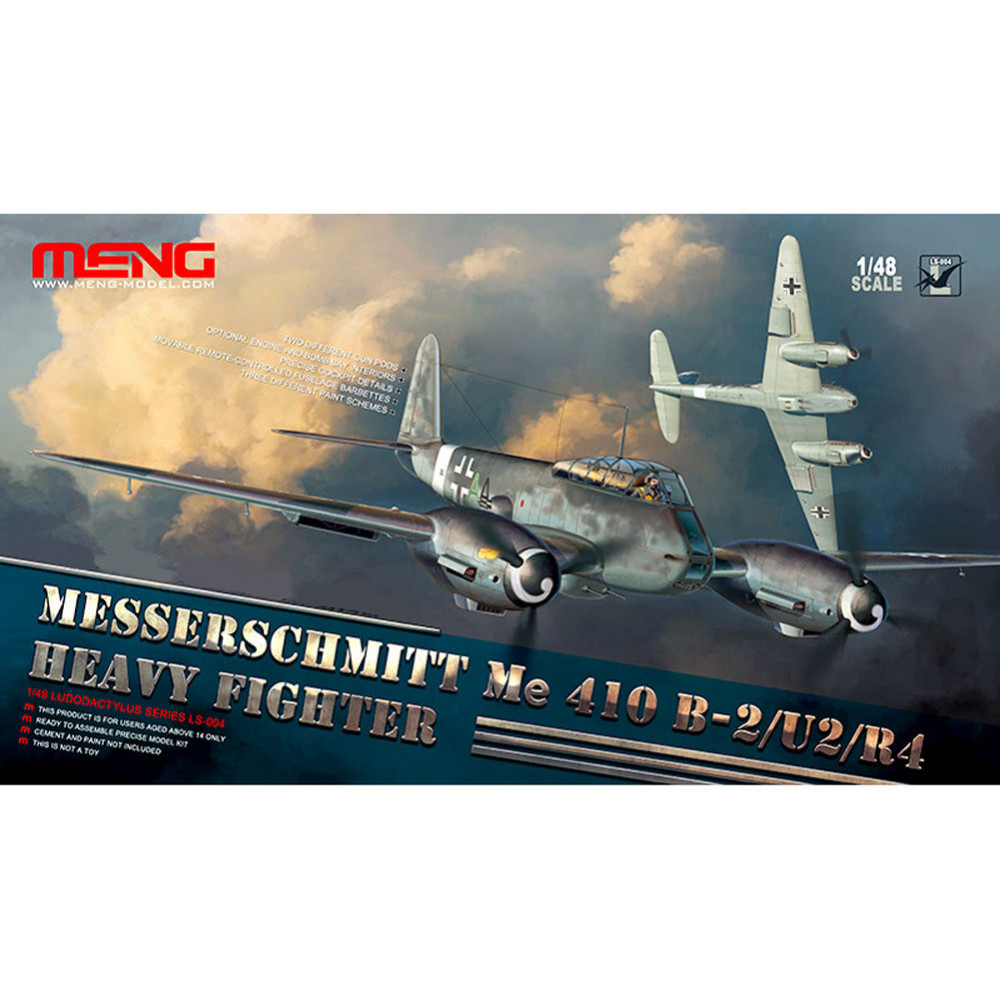 OHS Meng LS004 1/48 Messerschmitt Me 410 B-2/U2/R4 Heavy Fighter Assembly Scale Airforce Model Building Kits oh