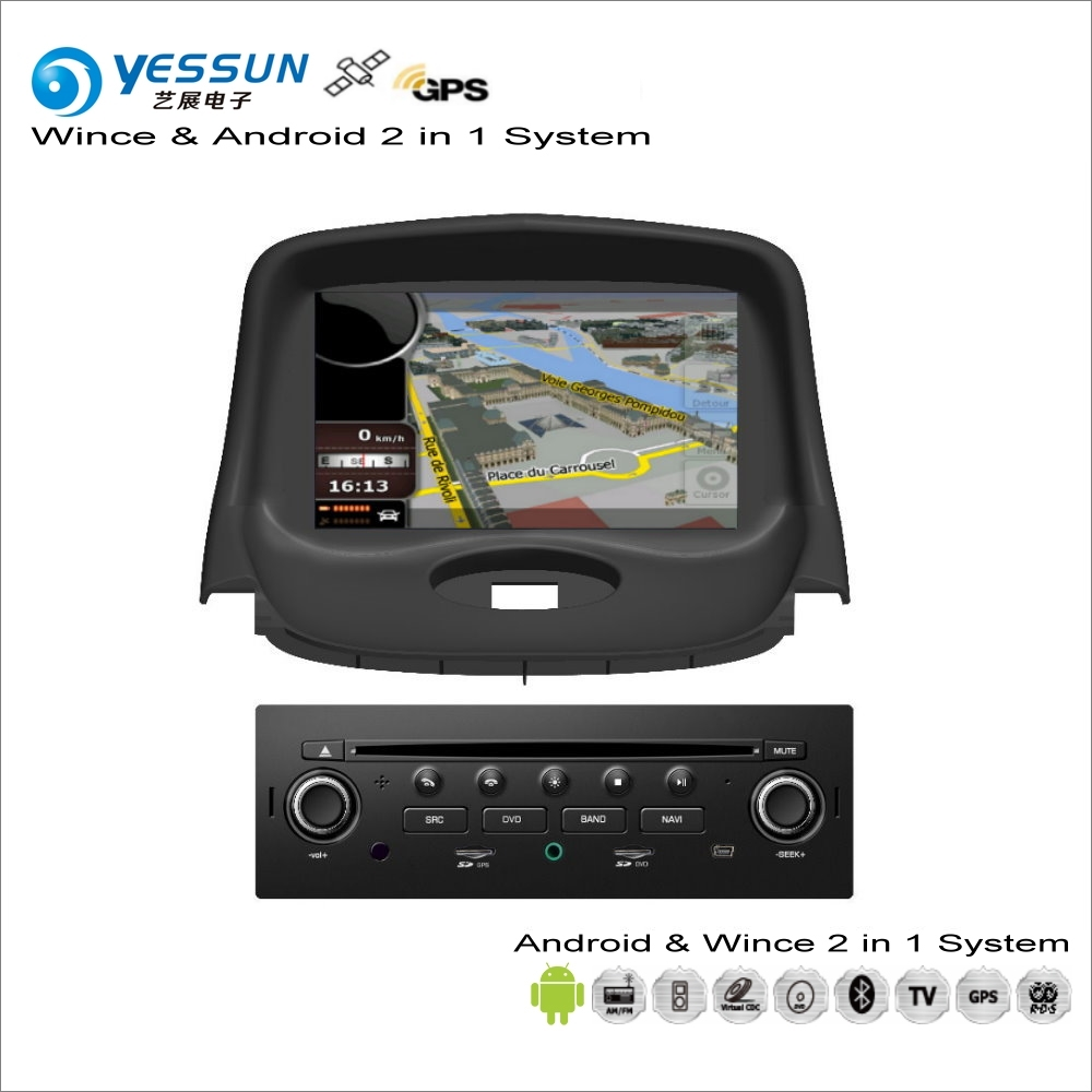 YESSUN For <font><b>Peugeot</b></font> <font><b>206</b></font> 2004~2009 - Car <font><b>Android</b></font> Multimedia Radio CD DVD Player GPS Navi Map Navigation Audio Video Stereo System image
