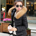 Nice New Women Winter Jacket cotton-padded woman's Outerwear Slim Hooded Down Jacket Woman Fur Collar Warm Down Coat  CP1111