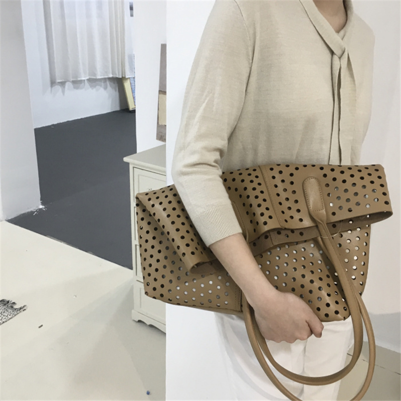 Women PU Leather Handbags Large Capacity Shoulder Bag 2019 Tote Hollow Out Tote Bag For Women High Quality Bolsa Feminina