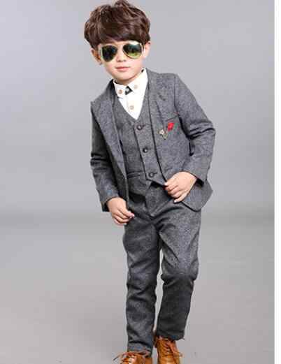 31cbcecbe497 ... Winter fashion new Boy's Plus velvet Suits Children Clothing suit for  Wedding Kids Party Suits Boy