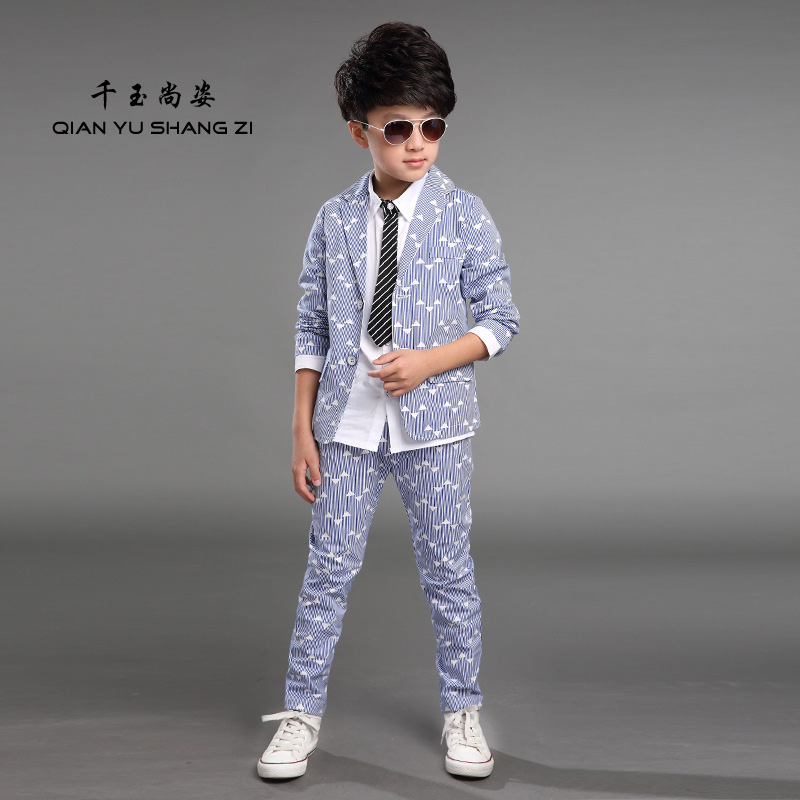 ФОТО 3-14Years Old Boy Blazer Suits Set Nice Two Pieces Casual Suits Child Spring Party Suits Boys New Little Gentleman's Suit Boy