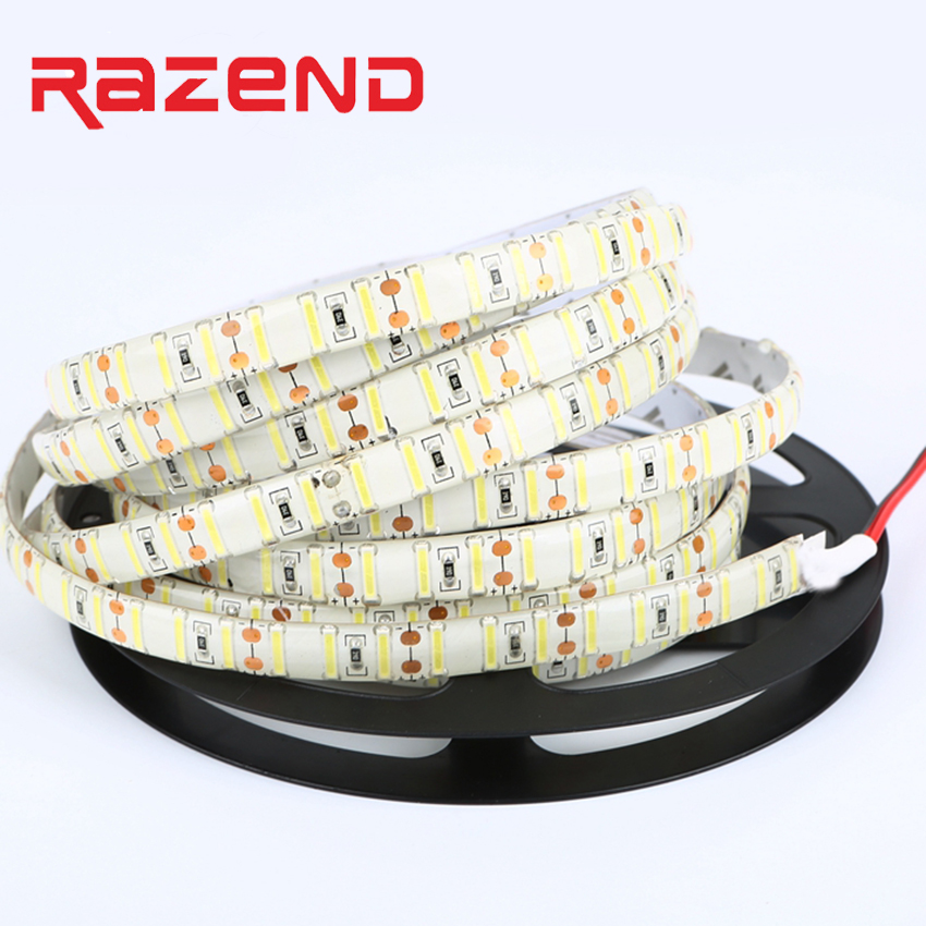 120led/M Double Chip SMD 8520 led strip 12V 5M Cold white Flexible led tape waterproof bar Indoor outdoor decoration light