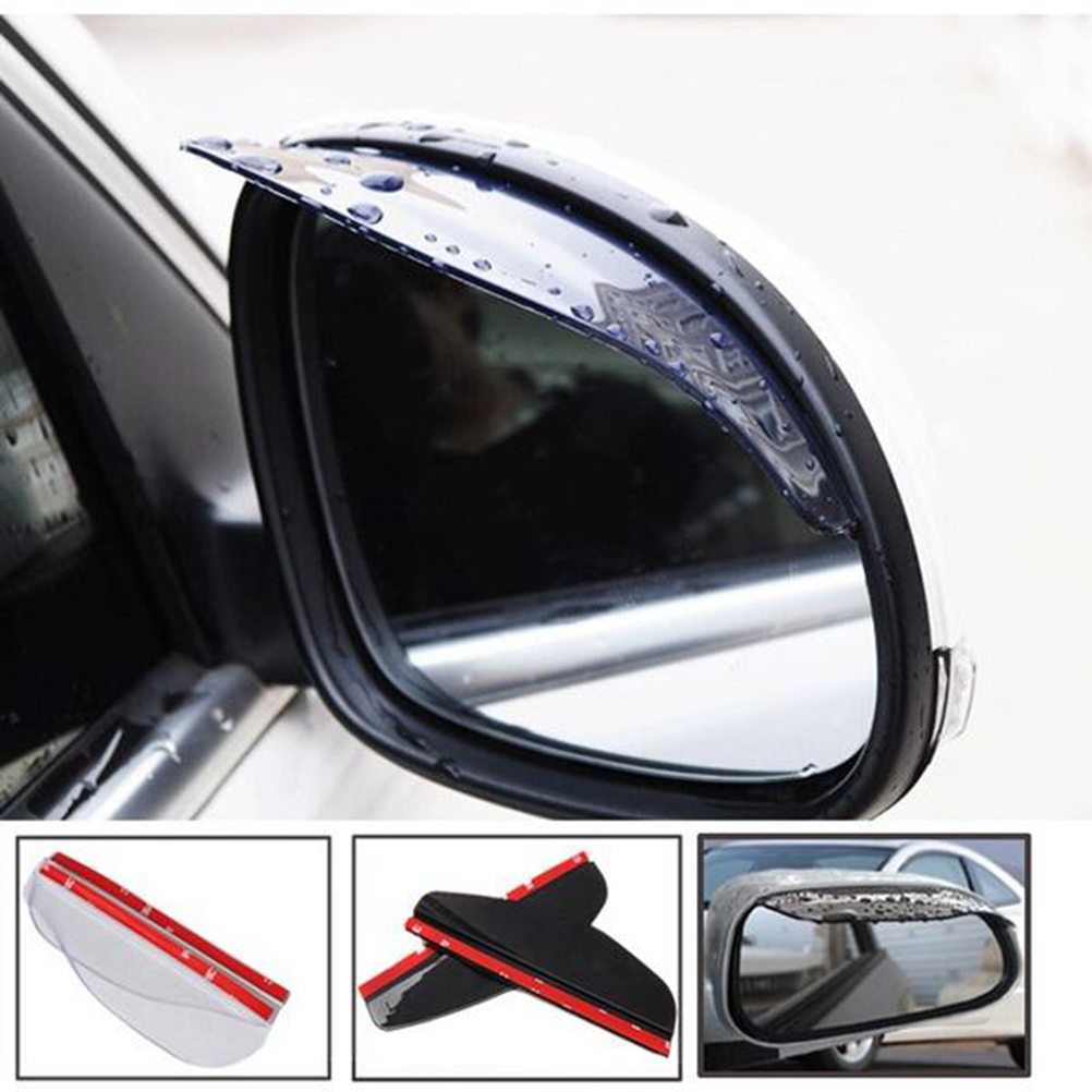 2 PCS Durable Universal PVC Rear View Side Mirror Cover Rain Shield Board Sun Visor Shade for Auto Car Truck SUV Car Accessories