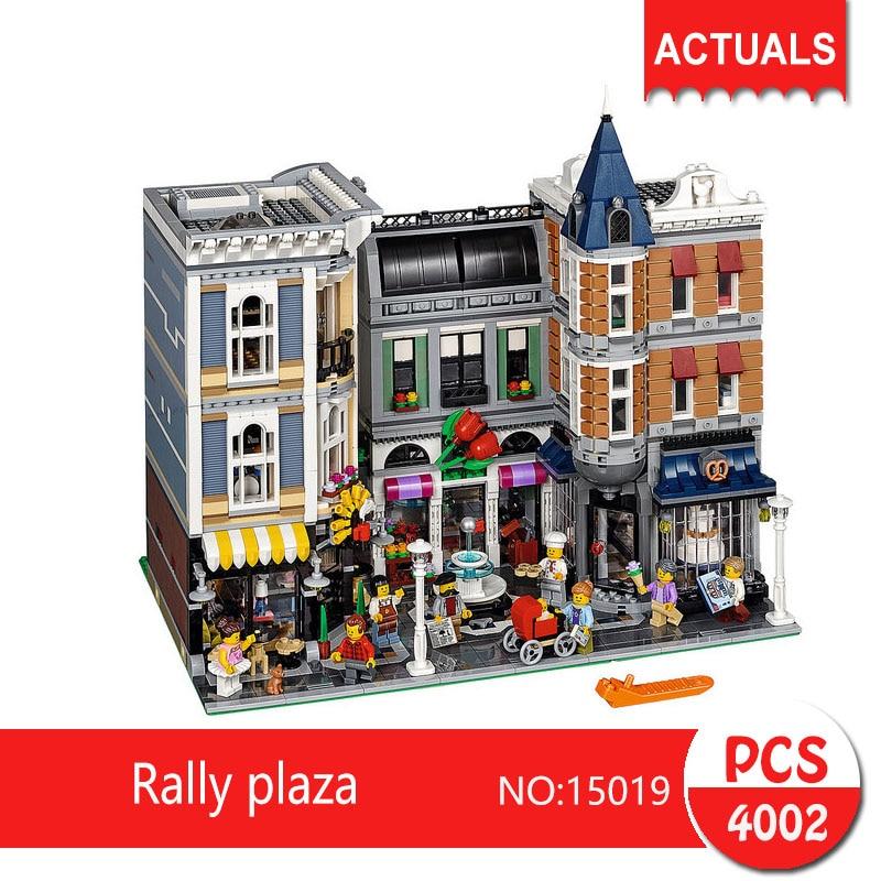 Lepin 15019 4002Pcs Street View series Rally plaza Model Building Blocks Set  Bricks Toys For Children Gift 10255 loymina обои loymina 4002 laс4 002