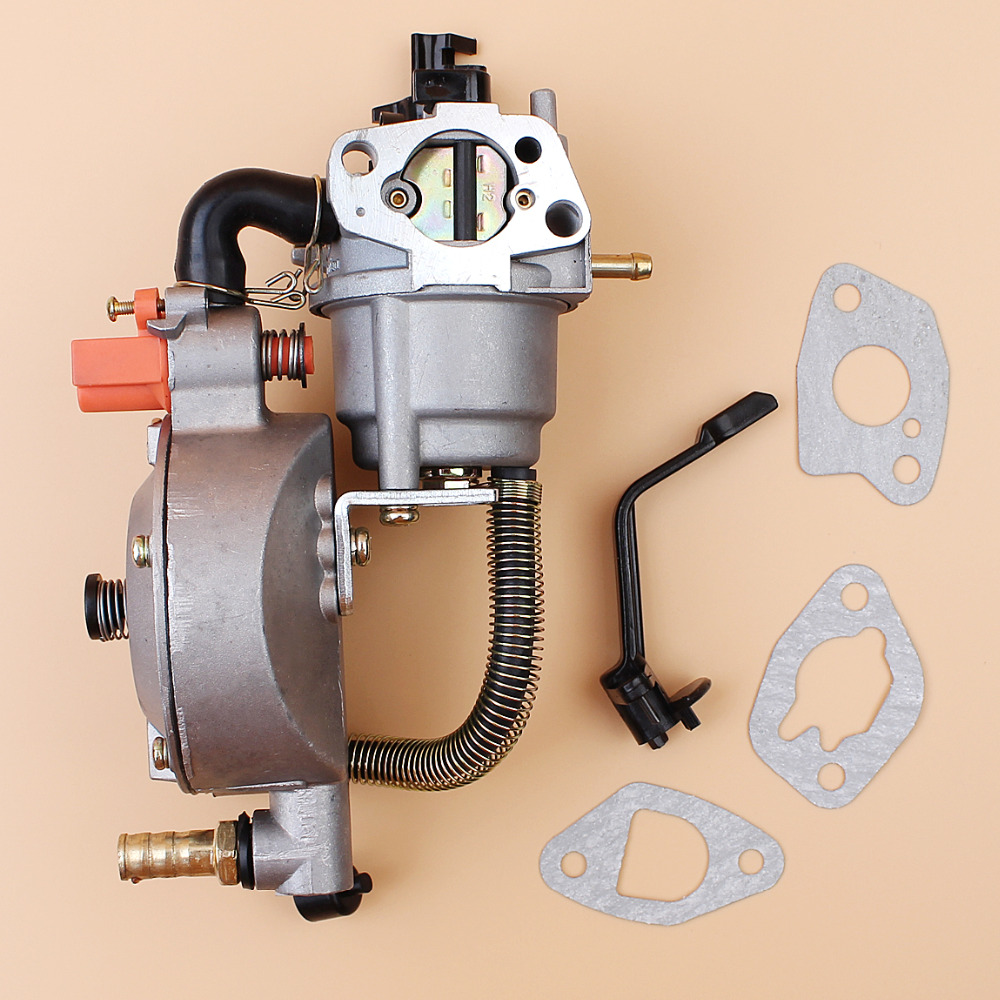 Carburetor Dual Fuel Conversion Kit For HONDA GX160 GX200 168F 170F 2KW 3KW GENERATOR LPG CNG GASOLINE Dual Fuel Carburetor Carb