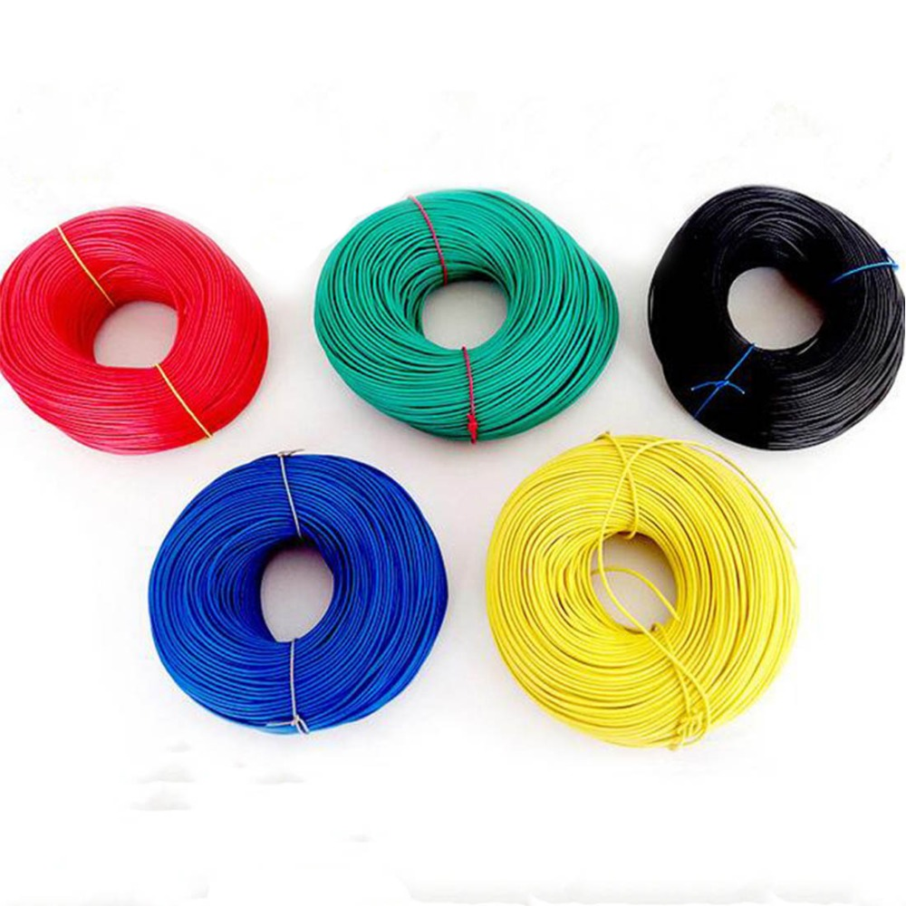 VENSTPOW 5/10 Meters/lot RV Wire 0.3mm Multi-strand Flexible Stranded Cord Copper Core PVC Wire DIY 22AWG