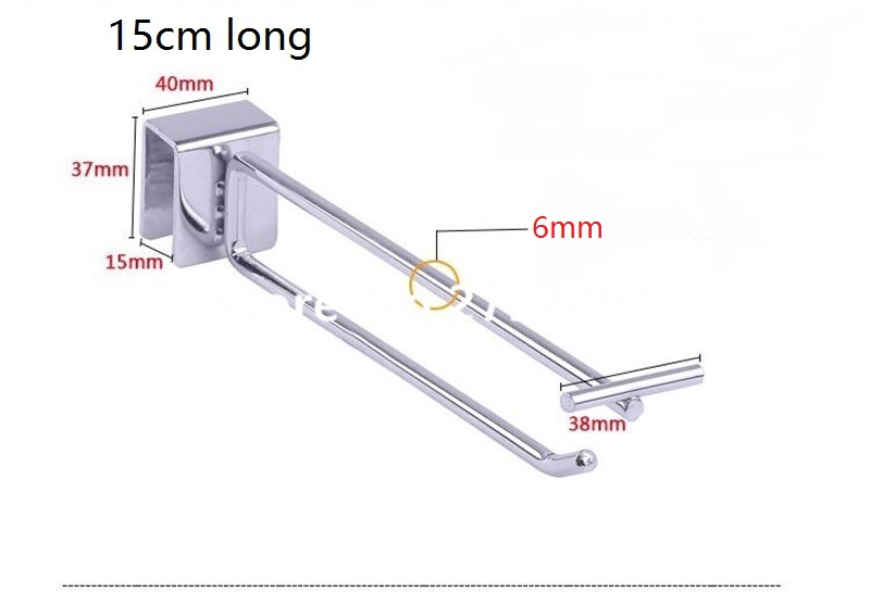 (100 pcs/pack ) 15cm Length 6mm Diameter secured merchandising solution,secure hook pegboard style locking device hooks