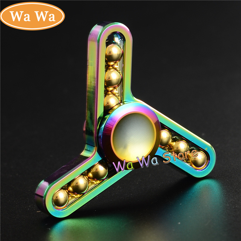 2017 New Fidget toy EDC Hand Spinner UFO Tri spinner Metal Fidget Spinner For ADHD Adults