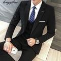 De tres piezas traje de vestido profesional Delgado trajes de negocios de los hombres (Jacket + Pants + Vest) TB761