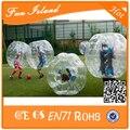 10 UNIDS (5 Azul 5red 2 Ventilador) Envío Gratis 1.5 M de Fútbol Burbuja, Burbuja Inflable Traje de la bola, Bola del zorb, Zorb Fútbol, Bola de Parachoques