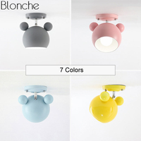 Modern Mickey Led Ceiling Lights for Kids Living Room Bedroom Nordic Metal Ceiling Lamps Cartoon Lighting Fixture Home Decor E27