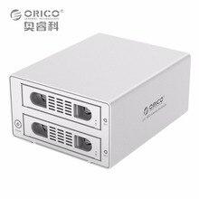 ORICO 3529RUS3 Инструмент Бесплатно Алюминия 2 Bay 3.5 «SATA2.0 USB3.0 & eSATA Внешний ЖЕСТКИЙ ДИСК Док-Станция 2bay RAID Функция HDD Случае